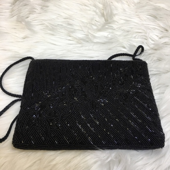cf1f98e9f14 Valerie Stevens Bags | Black Beaded Evening Bag | Poshmark